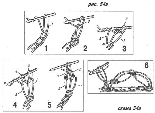 Вязание соломоновой петли крючком 22