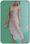 Ассиметричное платье из мотивов