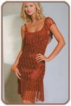 Платье с вышитой бретелью