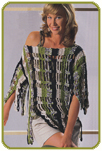 Пуловер с эффектом бахромы