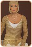 Шапочка и пуловер с ажурной каймой
