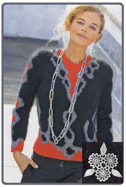 модные вязаные полуверы, вязание.