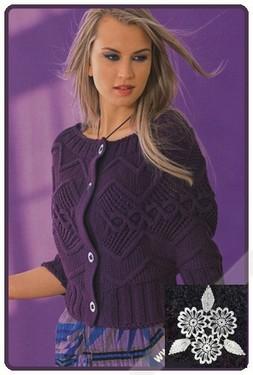 Модные вязаные ажурные кофты крючком с схемами.