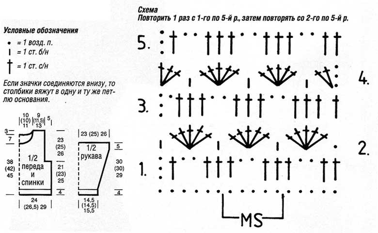 Рисунки для вязания крючком со схемами 16