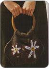 Размеры: 24 х 29 см. Вот вязаная сумочка с цветочком.